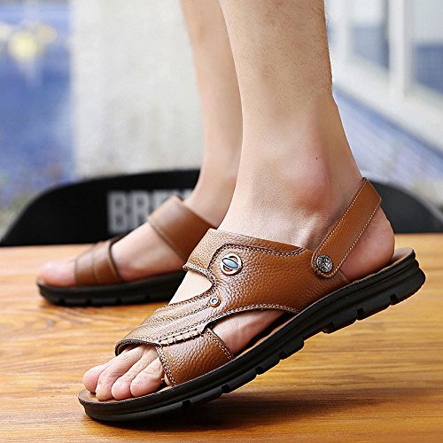 Open Toe Estivi Sandali Casual Sandali LEDLFIE Beach Shoes E Uomo Yellow Pantofole Sandali Traspirante da nqWqSIX