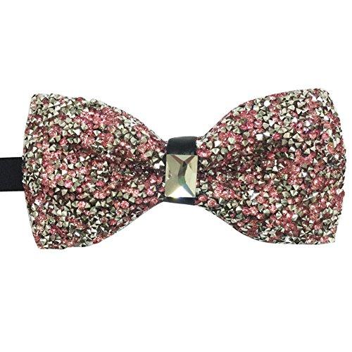 Rhinestone Crystal Bowties Tied Luxury Pre Tie Pink Men's Bow Shining Sdw0gqg