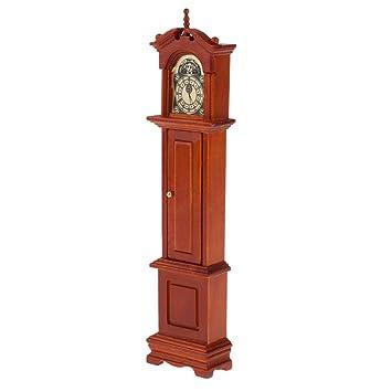 B Baosity Antiguo Reloj de Pie Péndulo Adornos de Muebles Muñecas para Escala 1/12 Dollhouse: Amazon.es: Juguetes y juegos