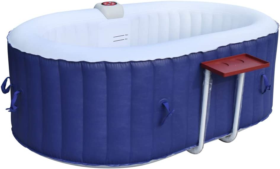ALEKO HTIO2BLD Oval Inflatable Hot Tub