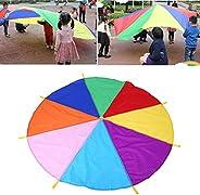 ANGGREK 8 Handles 2m Diameter Kids Play Rainbow Outdoor Teamwork Game Parachute Multicolor Toy