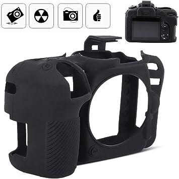 Mavis Laven Estuche para la cámara Estuche para la cámara, Funda Protectora de Silicona Suave para la cámara Nikon D7500, Negro: Amazon.es: Electrónica