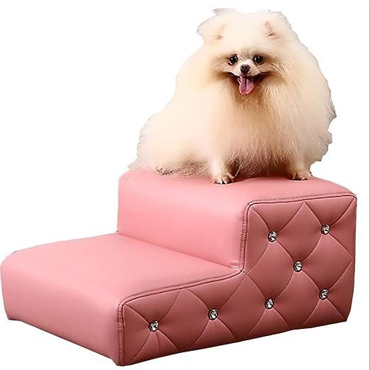 HH- Escaleras de Mascotas 2 Pasos Impermeables Escaleras para Mascotas para Camas Altas/Sofá, Ligero, Perro, Gato, Poco Más Viejo, Animal, Subir Escalera, Altura 24 Cm (Color : Pink): Amazon.es: Productos para mascotas