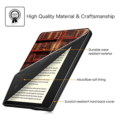 Fintie Origami Case for All-New Kindle Oasis (10th Generation, 2019 Release and 9th Generation, 2017 Release) - Slim Fit Stand Cover Support Hands Free Reading with Auto Wake Sleep, Library