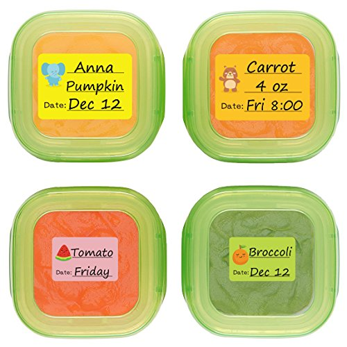 Baby Date Labels, Removable Write-On Labels for OXO TOT Food Storage Containers & Baby Bottles, Great for Daycare, Pack of 90 ()