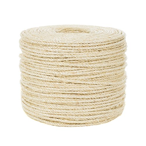 - 1/4-inch Premium Sisal Rope - 100 Feet - Pet Friendly