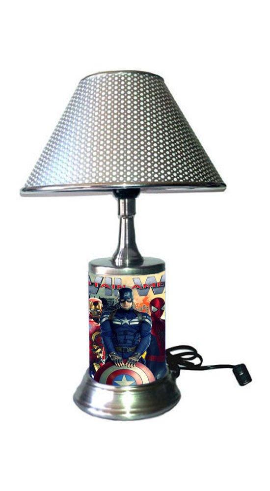 JS Captain America Civil War Lamp with Chrome Shade, Marvel
