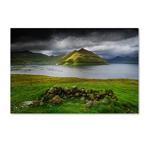 Trademark Fine Art Viking Landscape by Philippe Sainte-Laudy, 16x24-Inch Canvas Wall ()