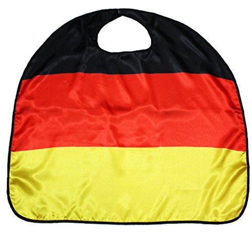 (Petitebella National Theme Satin Cape Unisex Clothing Costume Accessory 3-8y (Germany, One)