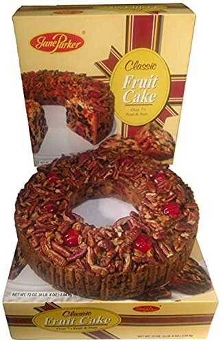 Jane Parker Classic Light Fruit Cake 72 Ounce Ring (4.5 Lbs.) Fruitcake
