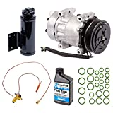 New AC Compressor & Clutch With Complete A/C Repair Kit For Jeep Wrangler - BuyAutoParts 60-80283RK New