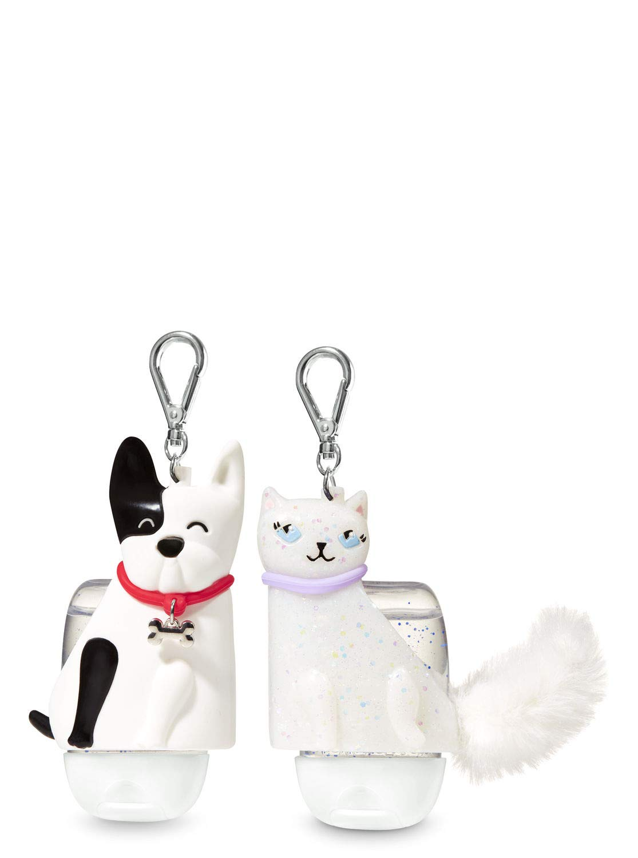 Bath Body Works PocketBac Hand Gel Holder Cute Companions Cat Dog Set BFF by Bath & Body Works