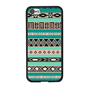 Personalized Aztec Designer Iphone 5c Case Cover - Hipster Diamond Geometric Triangle Green Cell Phone Back Protective Cover Shell