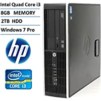 HP Elite 8200 High Performance Small Form Factor Business Desktop Computer (Intel Quad Core i3 3.1GHz Processor), 8GB DDR3 RAM, 2TB HDD, DVD, Windows 7 Professional (Certified Refurbished)