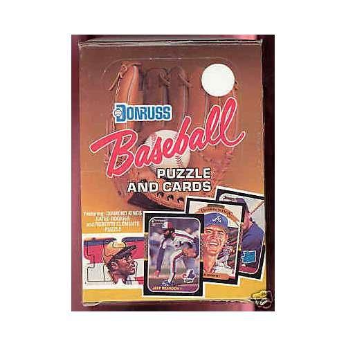 1987 Donruss Baseball Wax Pack Box Barry Bonds Greg Maddux Rookie Card Possible 1987 Donruss Baseball Wax