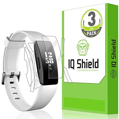 Fitbit Inspire HR Screen Protector [3-Pack], IQ Shield LiQuidSkin Full Body Skin + Full Coverage Screen Protector for Fitbit Inspire HR HD Clear Anti-Bubble Film