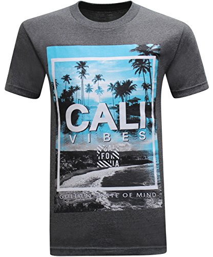 California Republic Paradise Vibes Golden State of Mind Men's T-Shirt - (Medium) - ()