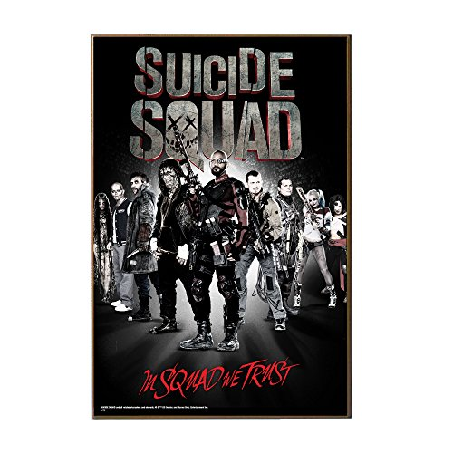 Silver Buffalo Sq1936 Dc Comics Suicide Squad  In Squad We Trust Mdf Wood Wall Art  13 X 19 Inches