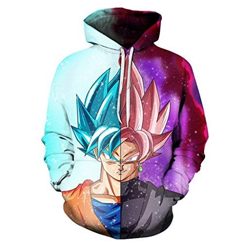 Dragon Ball Z Hoodie Sweatshirts Vegeta 3D Hoodies Pullovers Men Women Long Sleeve Outerwear Hip Hop Hoodies