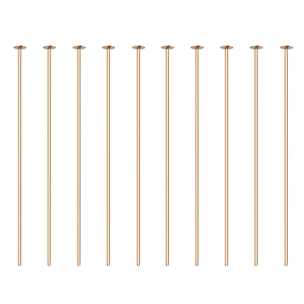 1.4 35mm BENECREAT 100PCS 18K Real Gold Plated Ball Pins 22 Gauge Ball Head Pins for DIY Jewelry Making Findings Long