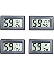 Kinyanco 4-Pack Small Thermometer Hygrometer, Digital Indoor Humidity Temperature Meter with LCD Display Temperature only in Celsius ℃ for Humidors Car Greenhouse Kitchen Cigar Room Babyroom …