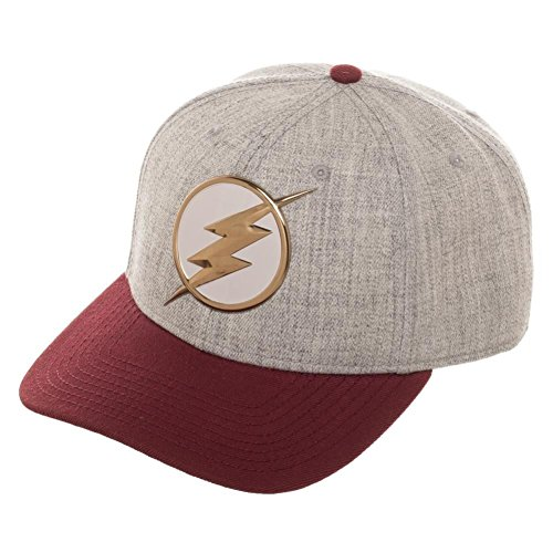 The Flash Chrome Weld Curved Snap Back Baseball Hat -