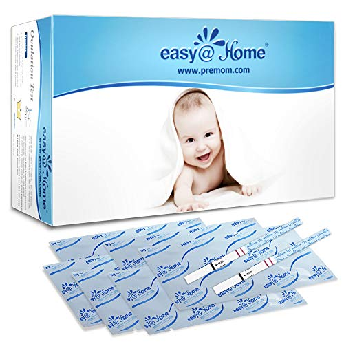 Easy@Home Ovulation Test Strips, 100 Pack Fertility Tests, Ovulation Predictor Kit, FSA Eligible, Powered by Premom…
