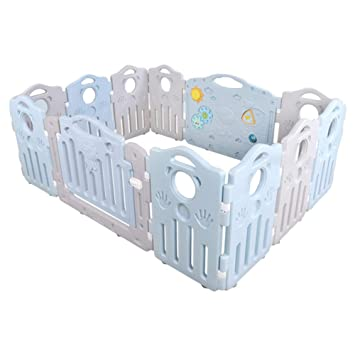 Amazon Com Plastic Baby Playpen With Gate For Boy Girls Kids