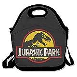 dsybtv Bolsa de almuerzo Dinosaur Park Lunch bolsa Caja para Mujeres Hombres Niños con Correa Ajustable, Negro