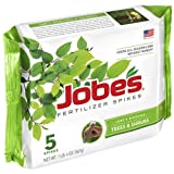 Jobe's Tree Fertilizer Spikes, 16-4-4 Time Release Fertilizer for All Shrubs & Trees, 5 Spikes per Package