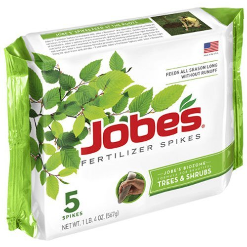 jobes-tree-fertilizer-spikes-16-4-4-time-release-fertilizer-for-all-shrubs-trees-5-spikes-per-packag