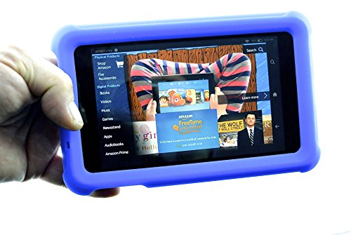 fire-hd-6-shock-proof-heavy-duty-silicone-case-with-sound-enhancer-design-by-flipstands-blue-new-pac