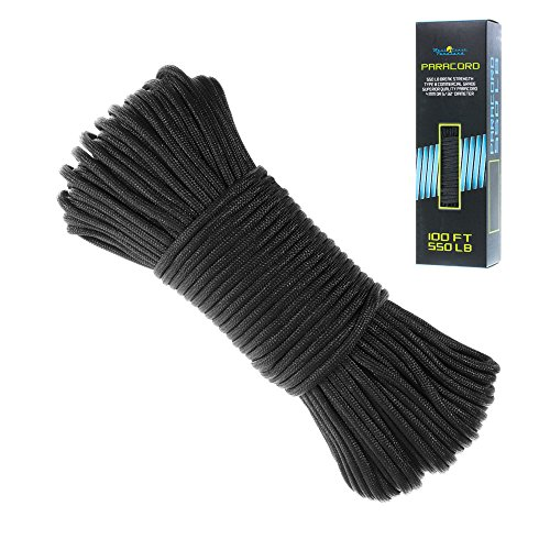 550 Paracord Bracelet Parachute Cord - 7 Strand Type III Paracord Rope - Multiple Colors in 100 Feet 7 Strand Parachute Cord