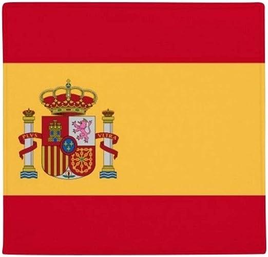 DIYthinker España Nacional Bandera Europa país Antideslizante Alfombra Pet Cuadrado casa Cocina Puerta 80 cm Regalo: Amazon.es: Jardín