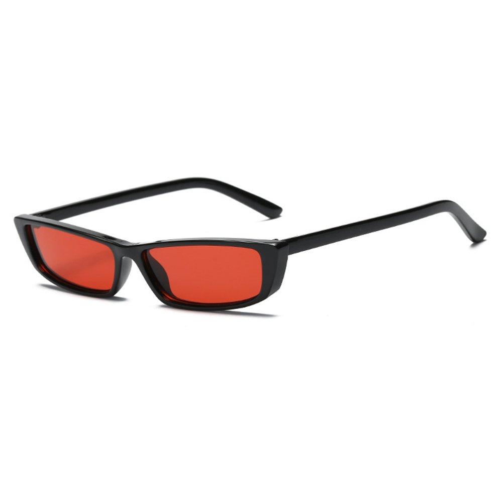 Juleya Vintage Rectangle lunettes de soleil femmes petit cadre ré tro lunettes noires B180108S1707201-J