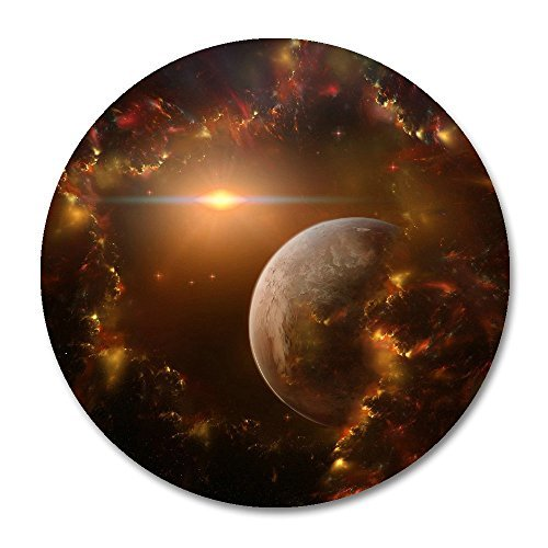 Galaxy Nebula Space Planet Customized Round Mouse Pad 7.8X7.8 inch