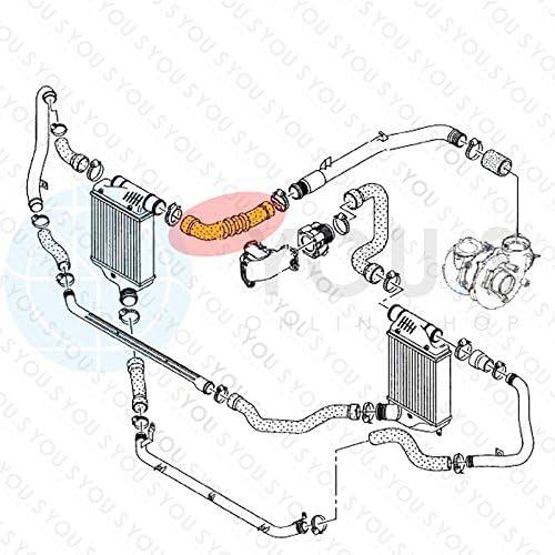 Durite Turbo Entr/ée DAir Diam/ètre Int/érieur 53//60 mm 4F0145738F