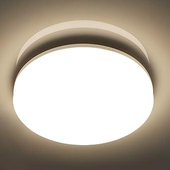 Ouyulong Techo Led de techo 24W 3000K Led Plafon de techo Cocina Luz natural Luces LED Luz de habitaci/ón para cocina amarillo pasillo sala de estar dormitorio