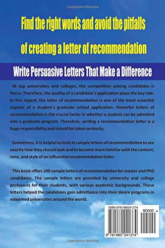 persuasive letter of recommendation