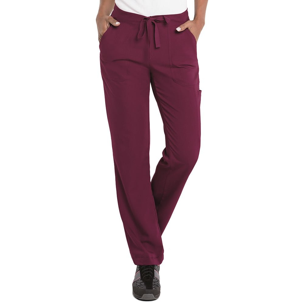 Urbane Ultimate Women's Contemporary Fit Taylor Flare Leg Scrub Pant Wine XS