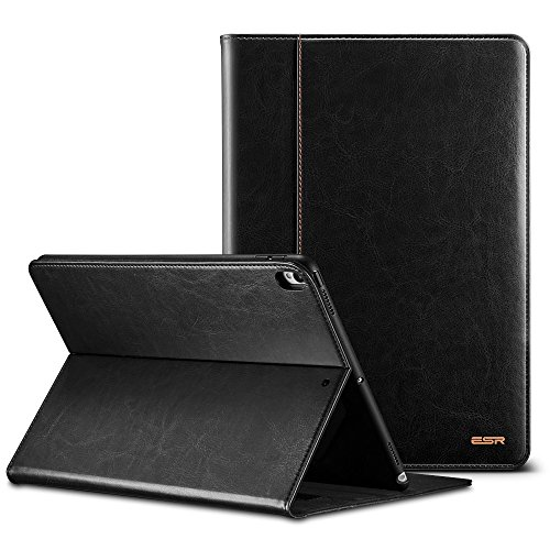 ESR Case for The iPad Pro 10.5, Premium Leather Business Multi-Functional Folio Stand Cover Hand Strap Pencil Holder Organizer Pocket Smart Auto Wake & Sleep Compatible for iPad Pro 10.5 inch, Black