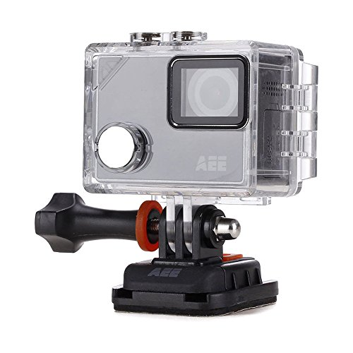 AEE Technology LYFE Silver 4K Lifestyle Wi-Fi Camera Time-Lapse Slow Motion Waterproof Case Included (S91B)