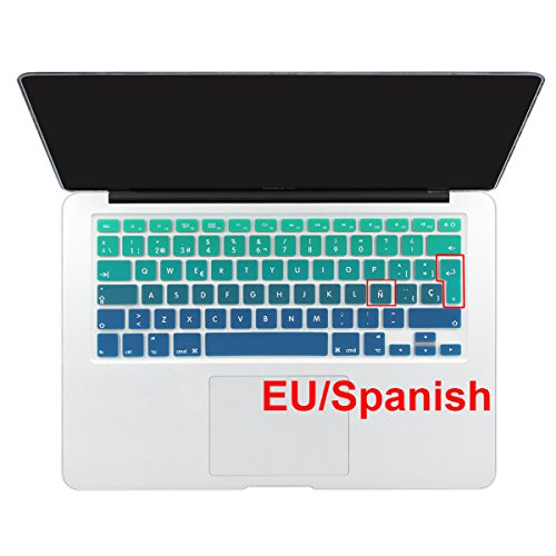 (Batianda Spanish ESP New Ombre Color Keyboard Cover Protector Waterproof Silicone Skin for MacBook Air 13