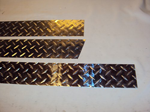 JEEPERSCREEPERS JEEP YJ 1987- 1995 WRANGLER 3 PIECE DIAMOND TREAD PLATE 3 1/2 CORNER GUARD AND UNDER TAILGATE PIECE PANELS BODY ARMOR HIDES RUST AND DAMAGE (Diamond Plate Corner Guards)