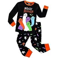 Pajamas for Boys Happy Halloween Ghost Sleepwear Children Long Sleeves Pants Set