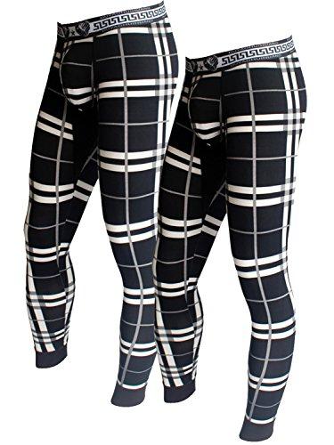 (Cadmus Men's Mid-Weight Wicking Thermal Pant,9509,Black & Black,US M,Tag XL)