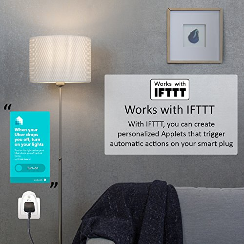 TP-LINK WiFi Smart Plug, Works with Amazon Alexa (Echo and Echo Dot), Google Home and IFTTT, No Hub Required, Control your Devices from Anywhere
