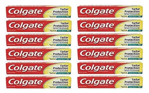 - Colgate Toothpaste Tartar Protection Whitening Crisp Mint AntiCavity 2.5oz (12 Pack)