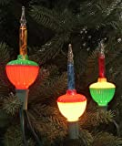 Sienna Multicolored C7 Bubble Light Replacement Christmas Bulbs, 3 Pack
