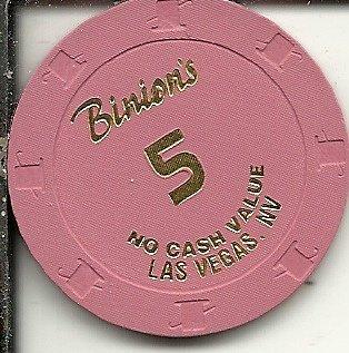 No cash value binion's horseshoe las vegas casino chip red